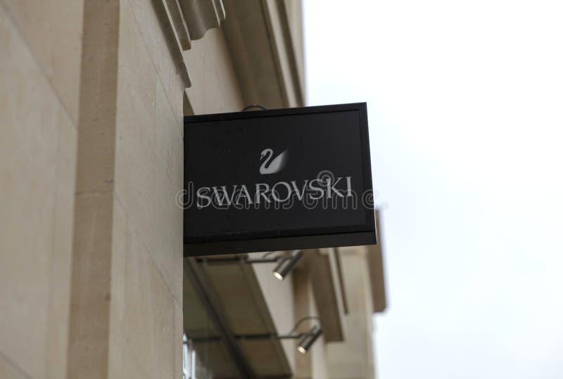 Baño, Somerset, Reino Unido, el 22 de febrero de 2019, muestra de la tienda para Swarovski imagenes de archivo