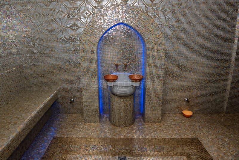 Baño turco o Hamam en el área del balneario imágenes de archivo libres de regalías