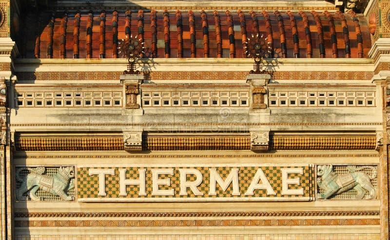 Baños de Berzieri, Salsomaggiore Terme, Italia foto de archivo libre de regalías