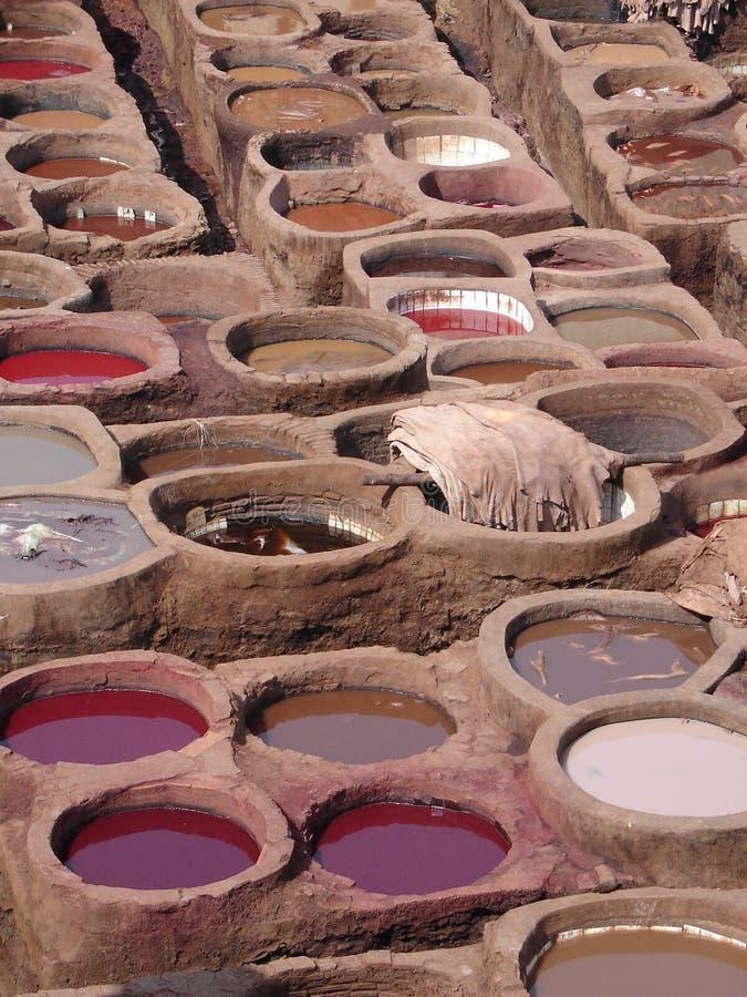 Baños del color, Fes, Marruecos fotos de archivo