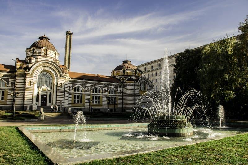 Baños minerales centrales en Sofía, Bulgaria fotografía de archivo libre de regalías