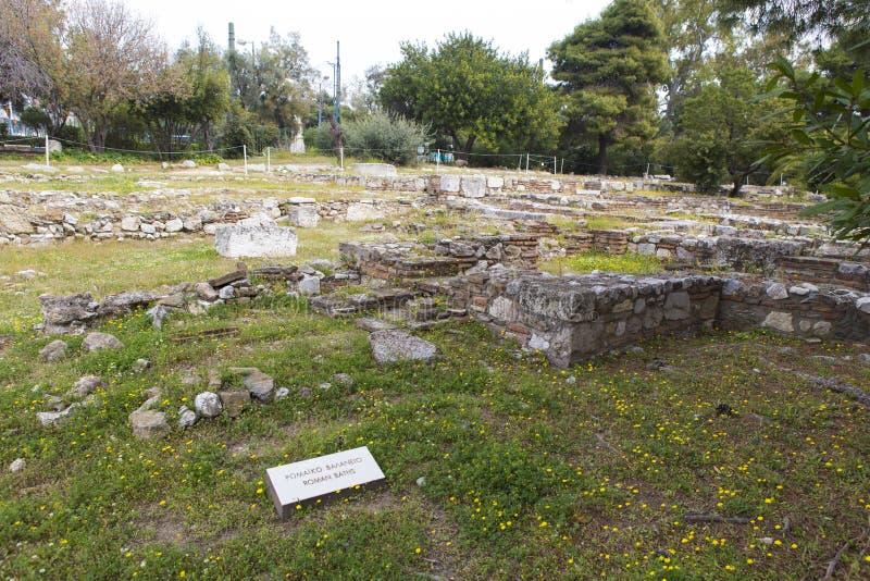 Baños romanos de Atenas foto de archivo