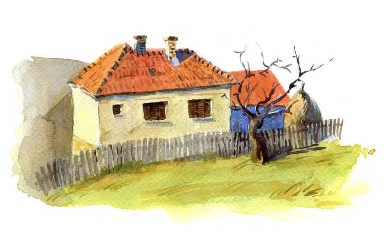 Bałkańscy domy ilustracja wektor