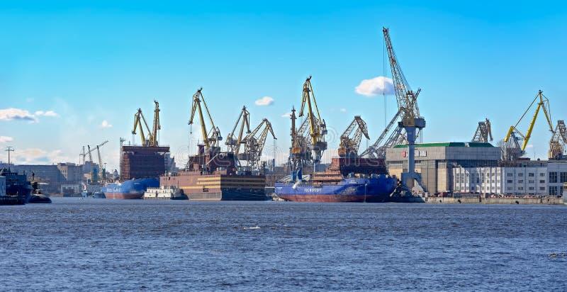 Bałtycka stocznia St Petersburg, Rosja obrazy royalty free