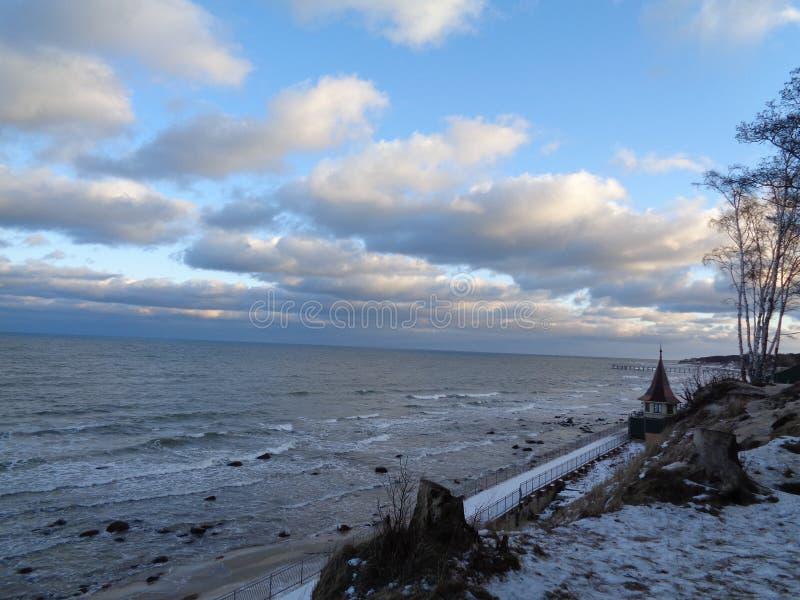 Bałtycki w zimie fotografia stock