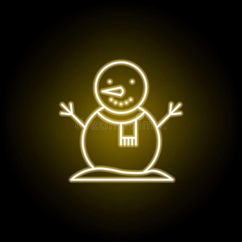 ba?wan ikona w neonowym stylu Element podr??y ilustracja Znaki i symbole mog? u?ywa? dla sieci, logo, mobilny app, UI, UX ilustracja wektor