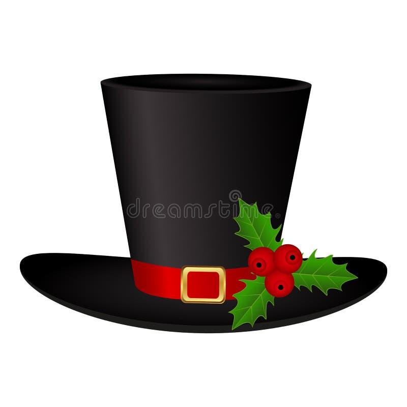 Bałwanu kapelusz na białym tle odizolowywającym ilustracja wektor