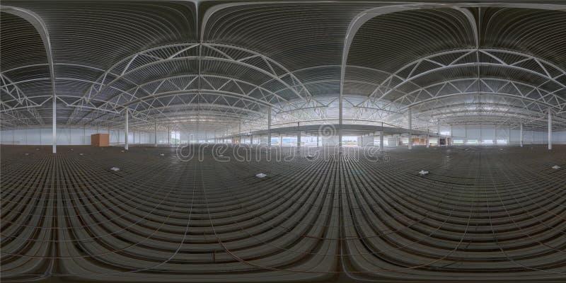 Bańczasta panorama salowa budowa zdjęcie stock