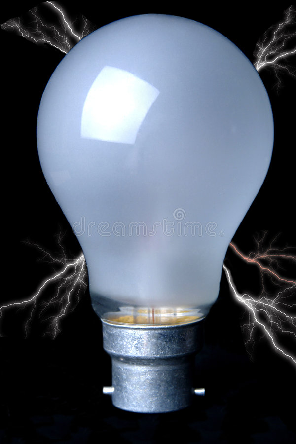 bańka elektryfikujący światło zdjęcia royalty free