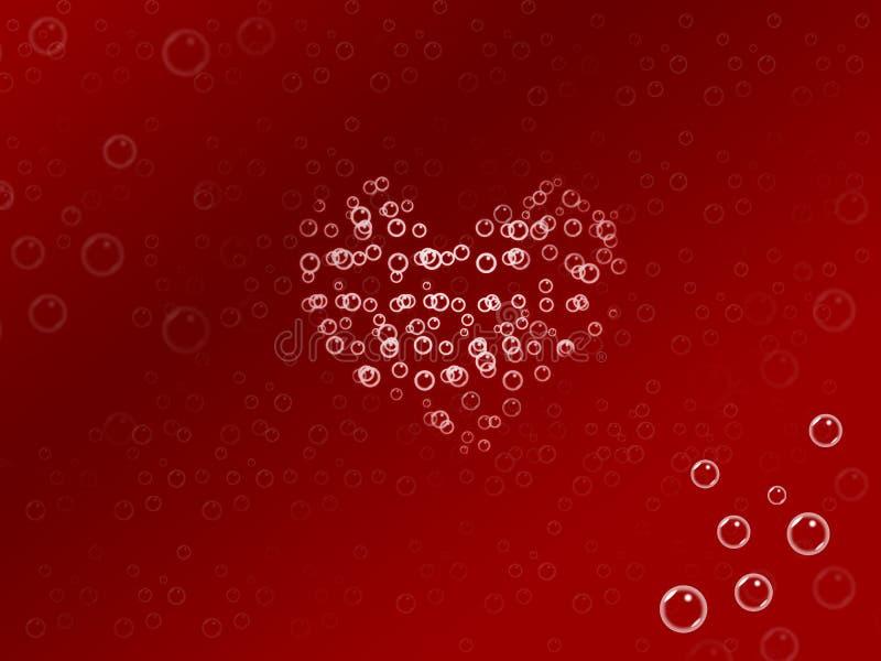 bańka miłości royalty ilustracja