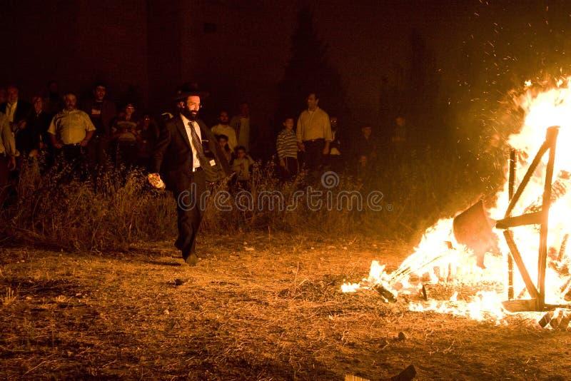 ba庆祝以色列滞后宗教omer 库存照片