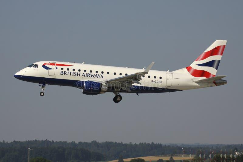 BA Cityflyer Embraer ERJ-170 stock photography