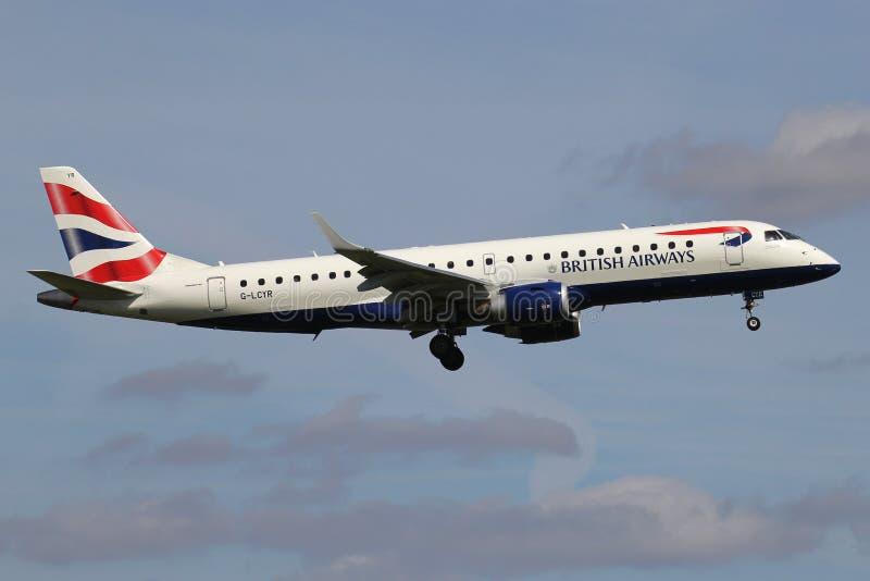 BA CityFlyer Embraer ERJ-190 stock photography