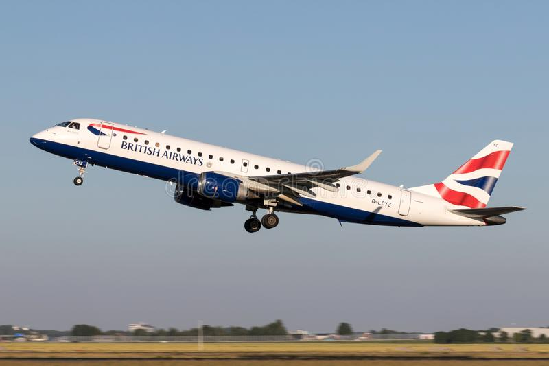 BA Cityflyer Embraer ERJ-190 stock images
