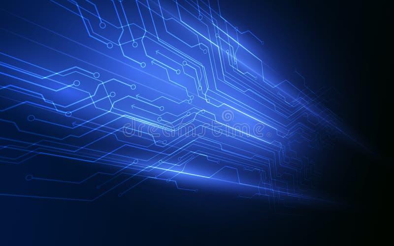 Ba de pointe numérique abstrait de vecteur de concept d'innovation de technologie illustration de vecteur