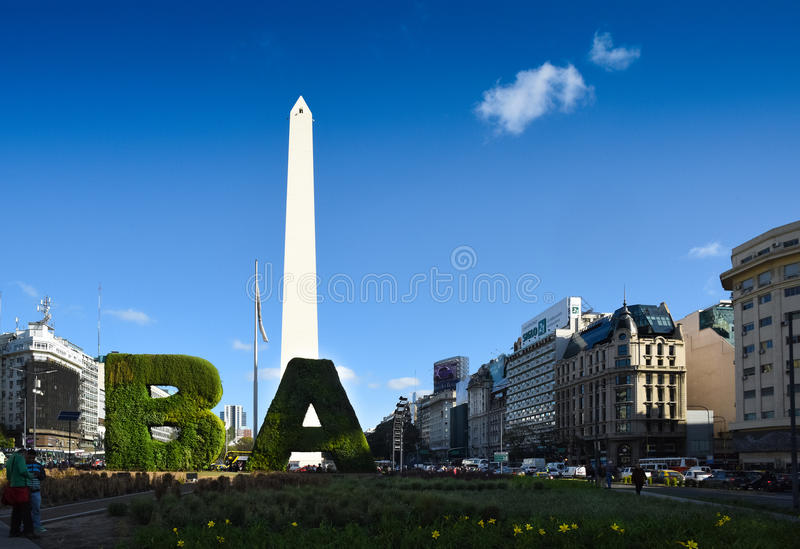 BA - Modern face of Buenos Aires. The Argentinian capital of Buenos Aires has a new look with modern buildings overtaking the skyline from the century old famous royalty free stock photo