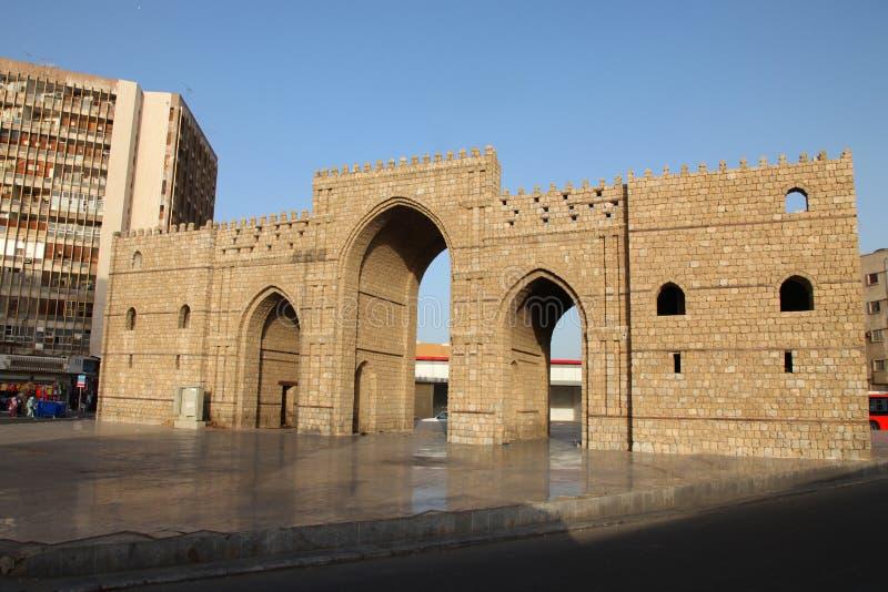 Baab makkah brama w Jeddah al Balad dziejowym miejscu Jeddah Arabia Saudyjska obrazy stock