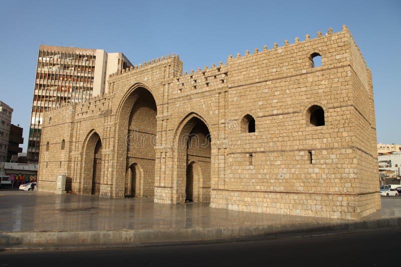 Baab makkah brama w Jeddah al Balad dziejowym miejscu Jeddah Arabia Saudyjska zdjęcia royalty free
