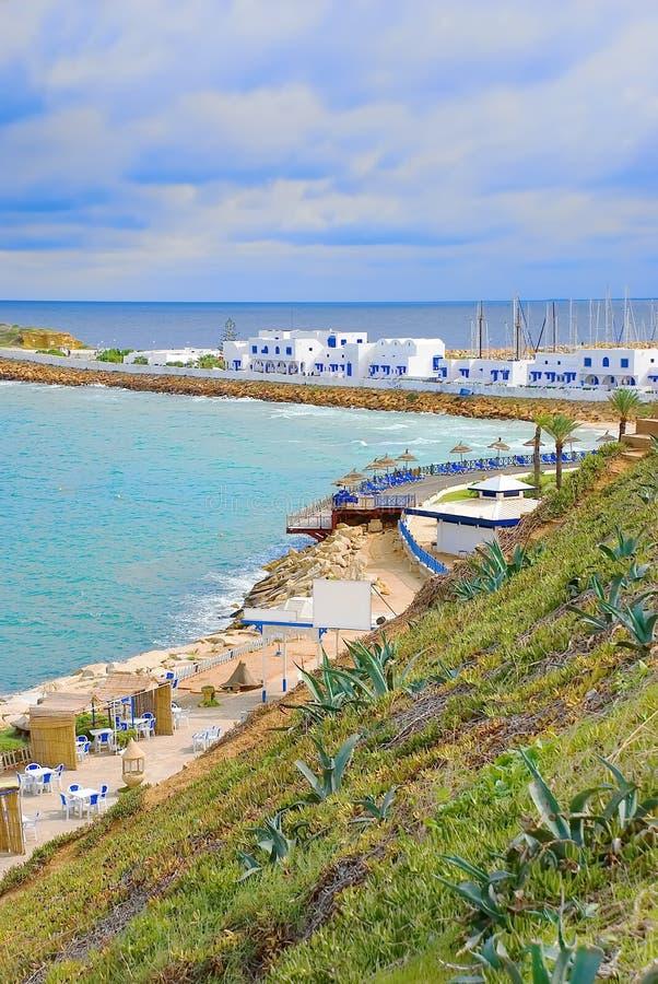 Baai in Monastir, Tunesië stock fotografie