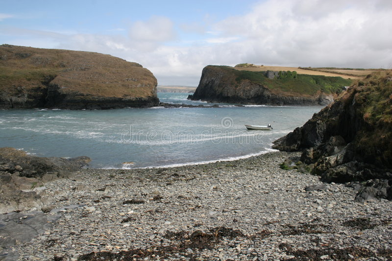 Baai, Pembrokeshire stock foto's