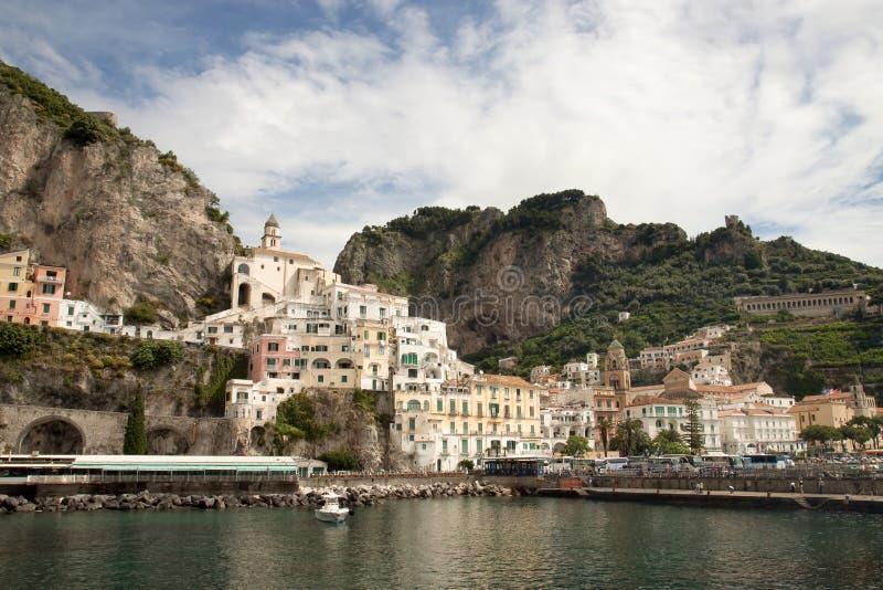 Baai van Amalfi Italië stock fotografie