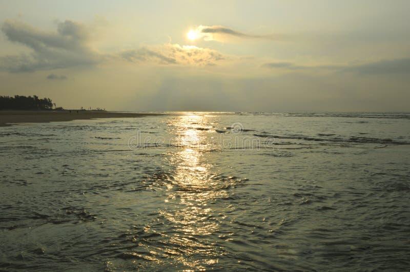 Baai van Bengalen, overzees strand, India stock foto