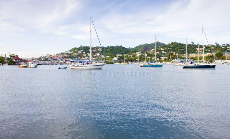 baai van Carenage, St George& x27; s, Grenada royalty-vrije stock foto