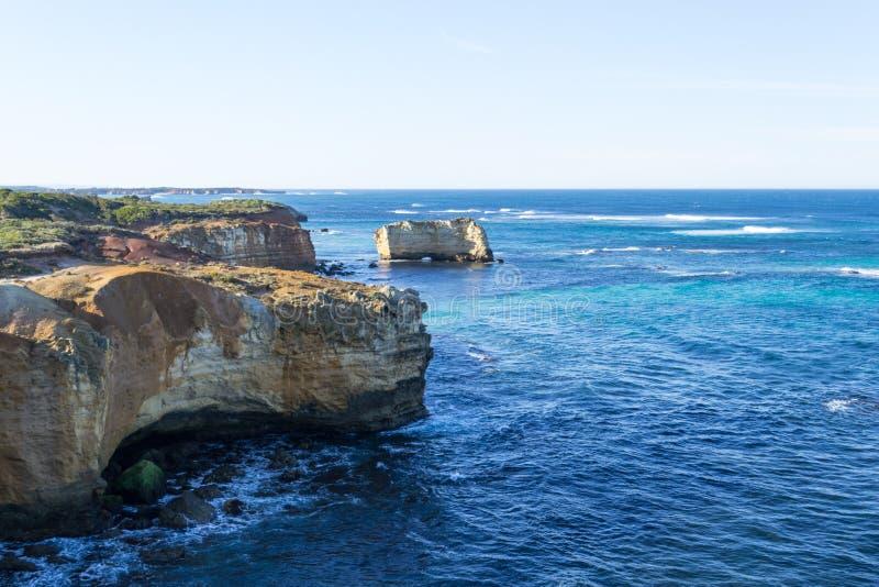 Baai van Eilanden in de grote Oceaanweg royalty-vrije stock afbeelding