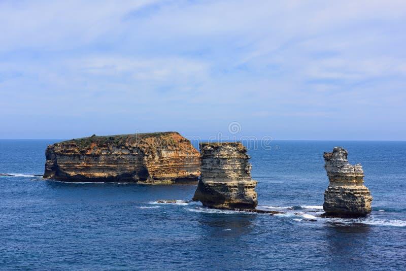 Baai van Eilanden Kustpark langs de Grote Oceaanweg royalty-vrije stock fotografie