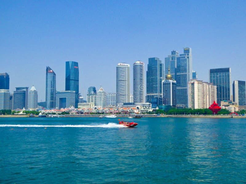 Baai van Fushan van het Qingdao de Olympische Varende Centrum royalty-vrije stock foto's