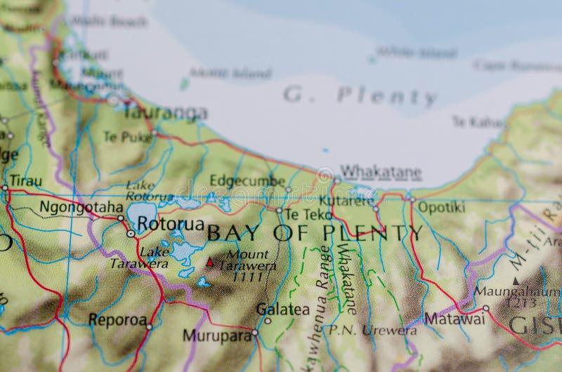 Baai van overvloed op kaart stock fotografie