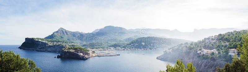 Baai van Port DE SÃ ³ ller royalty-vrije stock foto