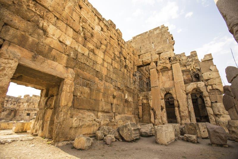 Baalbek, Bekaa Vallei, Libanon royalty-vrije stock foto