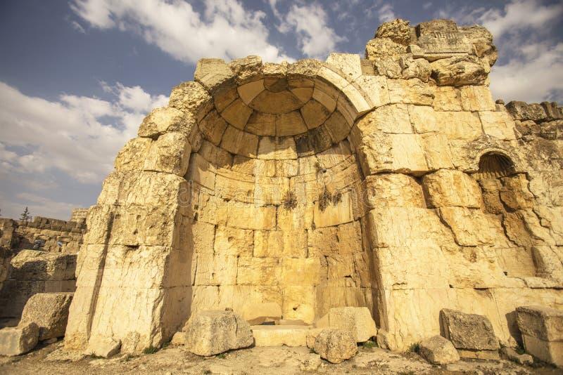 Baalbek, Bekaa Vallei, Libanon stock afbeeldingen