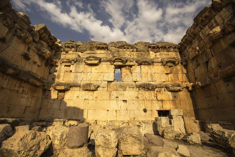 Baalbek, Bekaa Vallei, Libanon stock afbeelding