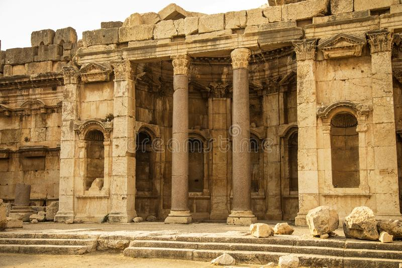 Baalbek, Bekaa Vallei, Libanon royalty-vrije stock fotografie