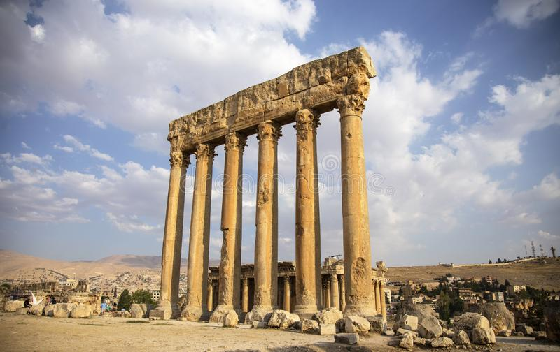 Baalbek, Bekaa Valley, Libano immagine stock