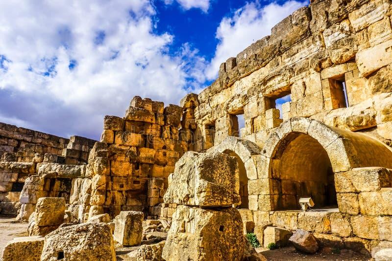 Baalbek Historisch Oriëntatiepunt 14 stock foto's