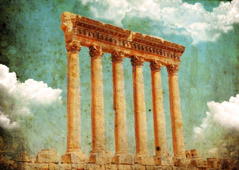 baalbek jupiter lebanon s tempel arkivbild