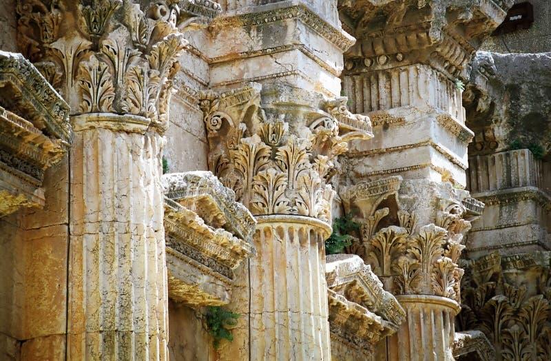 baalbek kolonndetalj royaltyfri foto