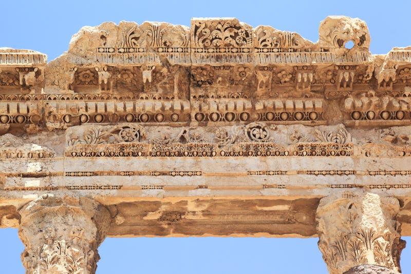 Baalbek Roman Ruins au Liban image stock