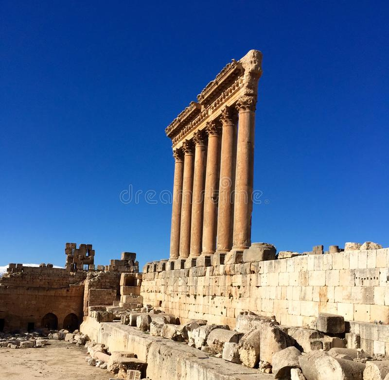 Download Baalbek UNESCO World Heritage Site, The Remaining Columns Of The Temple Of Jupiter. Stock Photo - Image: 83710540