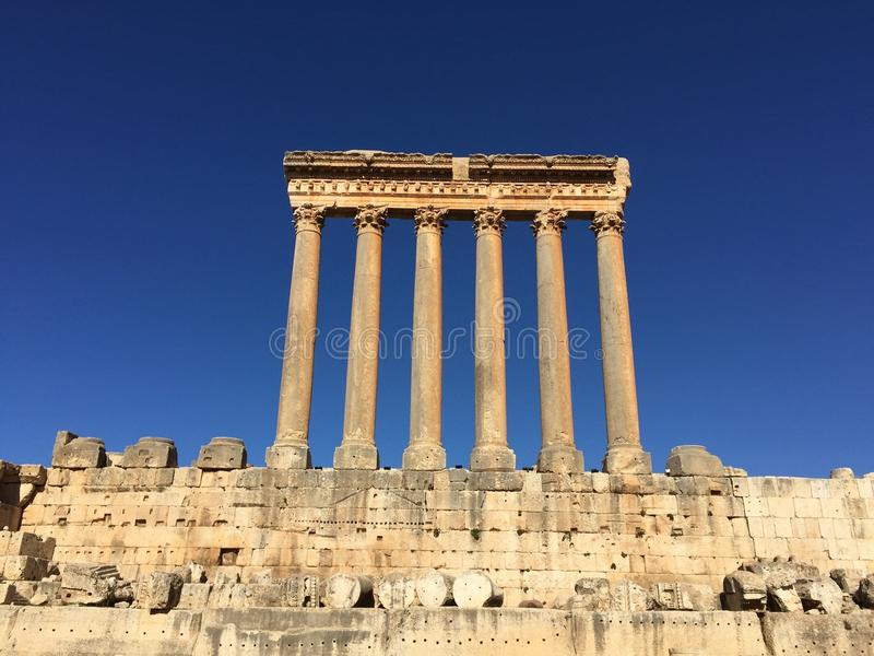 Download Baalbek UNESCO World Heritage Site, The Remaining Columns Of The Temple Of Jupiter. Stock Image - Image: 83711409