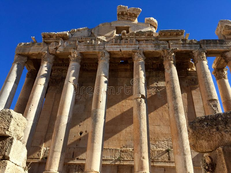 Download Baalbek UNESCO World Heritage Site, The Temple Of Bacchus Stock Photo - Image: 83710573