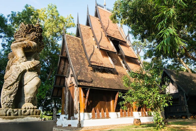BAANDAM la tradizione tailandese Chiang Rai, Tailandia di stile fotografie stock