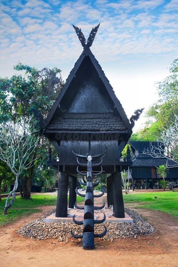 Baandam Museum & Gallery or Black House in Chiang Rai, Thailand. royalty free stock image