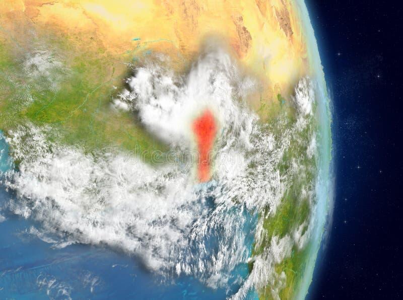 Baanmening van Benin in rood vector illustratie