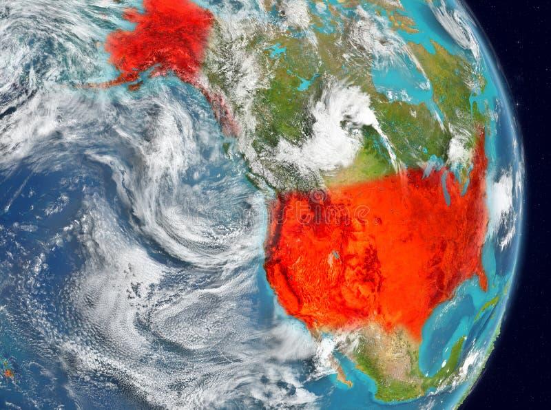 Baanmening van de V.S. in rood vector illustratie