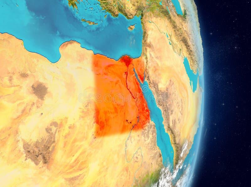 Baanmening van Egypte in rood royalty-vrije illustratie