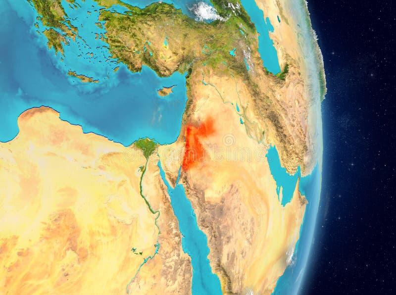 Baanmening van Jordanië in rood stock illustratie